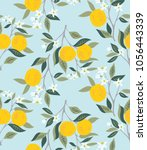 vector seamless pattern with... | Shutterstock .eps vector #1056443339
