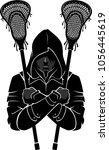 lacrosse assassin sport symbol   Shutterstock .eps vector #1056445619