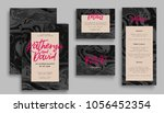 wedding invitation card suite... | Shutterstock .eps vector #1056452354