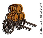 moved color handcart... | Shutterstock .eps vector #1056453659