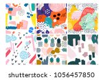 set of six hand drawn vector... | Shutterstock .eps vector #1056457850