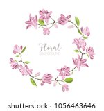 round background  border or... | Shutterstock .eps vector #1056463646