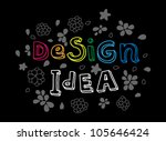 design and idea words on black... | Shutterstock .eps vector #105646424