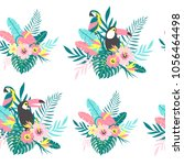 tropical seamless pattern with... | Shutterstock .eps vector #1056464498
