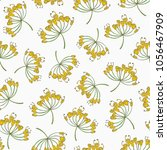 seamless pattern with dill... | Shutterstock .eps vector #1056467909