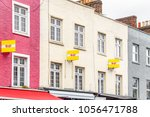 Colourful Terraced Houses With...