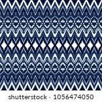 ikat seamless pattern. vector... | Shutterstock .eps vector #1056474050