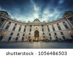 view of the evening hofburg...   Shutterstock . vector #1056486503