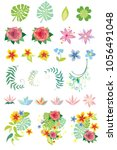vector colorful set of... | Shutterstock .eps vector #1056491048