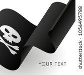 pirate flag. jolly roger waving ...   Shutterstock .eps vector #1056495788