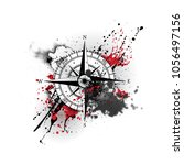 black wind rose silhouette with ...   Shutterstock .eps vector #1056497156