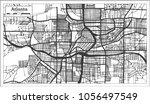 atlanta georgia usa city map in ... | Shutterstock .eps vector #1056497549
