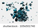 black triangle with debris on... | Shutterstock .eps vector #1056501740