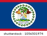 belize flag with official... | Shutterstock .eps vector #1056501974