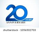 20 years anniversary...   Shutterstock .eps vector #1056502703