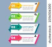 infographics template 4 options ...   Shutterstock .eps vector #1056506300