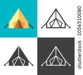 tent icons 2018 | Shutterstock .eps vector #1056510080