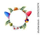 summer time vector banner... | Shutterstock .eps vector #1056515474
