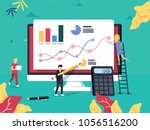 roi concept. return on... | Shutterstock .eps vector #1056516200