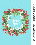 thank you card template with... | Shutterstock . vector #1056518444
