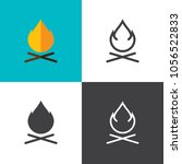 campfire icons 2018 | Shutterstock .eps vector #1056522833