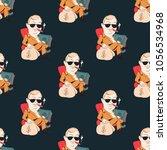 quirky businessman seamless... | Shutterstock .eps vector #1056534968