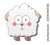cute square sheep. vector...