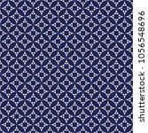 seamless porcelain indigo blue... | Shutterstock .eps vector #1056548696