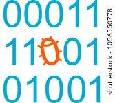 program code with bug. vector... | Shutterstock .eps vector #1056550778