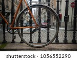 detail rear wheel of bicycle on ... | Shutterstock . vector #1056552290