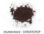 pile heap of soil isolated on... | Shutterstock . vector #1056552929