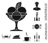 restaurant and bar black icons... | Shutterstock .eps vector #1056558110