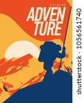 extreme outdoor adventure... | Shutterstock .eps vector #1056561740
