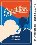 extreme outdoor adventure... | Shutterstock .eps vector #1056561746
