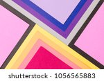 bright colorful paper... | Shutterstock . vector #1056565883