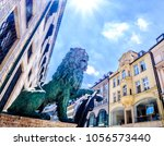 famous bavarian lion at the...   Shutterstock . vector #1056573440