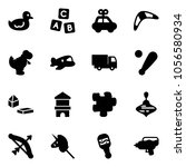 solid vector icon set   duck... | Shutterstock .eps vector #1056580934