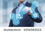 assessment analysis evaluation... | Shutterstock . vector #1056582023