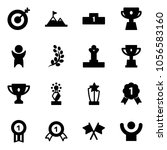 solid vector icon set   target... | Shutterstock .eps vector #1056583160