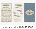 vintage wedding invitation... | Shutterstock .eps vector #1056585503