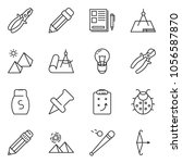 thin line icon set   notes... | Shutterstock .eps vector #1056587870