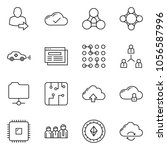 thin line icon set   web site... | Shutterstock .eps vector #1056587996