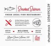 fish restaurant signs  titles ...   Shutterstock .eps vector #1056592139