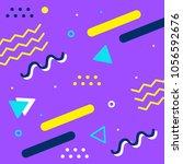 memphis style banner template.... | Shutterstock .eps vector #1056592676