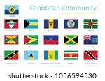 caribbean community member... | Shutterstock .eps vector #1056594530