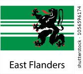 flag of east flanders  province ... | Shutterstock .eps vector #1056596174