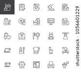 morning time outline icons set. ... | Shutterstock .eps vector #1056601229