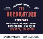 original handmade alphabet.... | Shutterstock .eps vector #1056602003