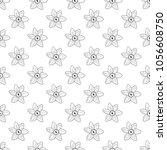 vector seamless narcissus...   Shutterstock .eps vector #1056608750