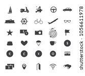 travel vector icon set ...